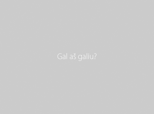 Gal as galiu